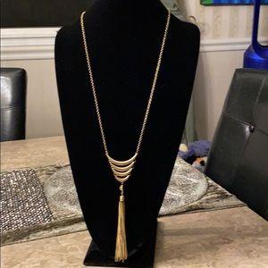 INC Goldtone Necklace with Fancy Fringe
